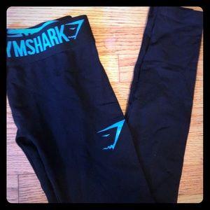 Gymshark OG black turquoise fit leggings S used